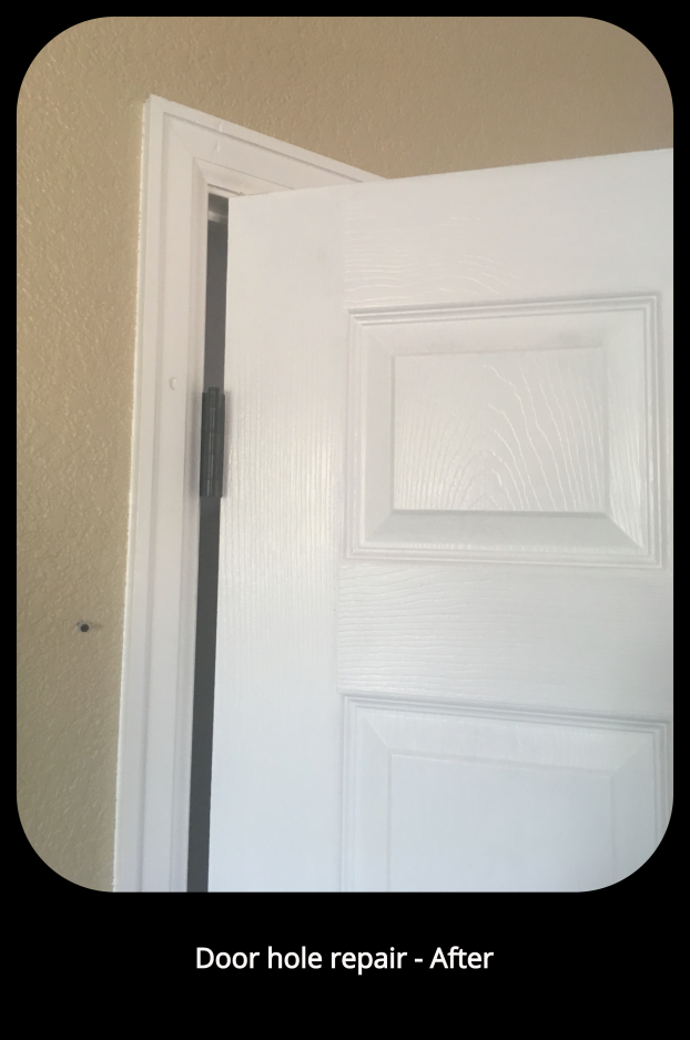 Door hole repair - After- Littleton, CO