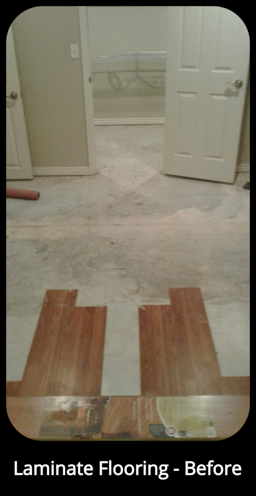 Laminate Flooring Install - Before - Highlands Ranch, CO