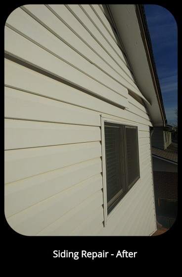 Siding Repair - Before - Arvada. CO
