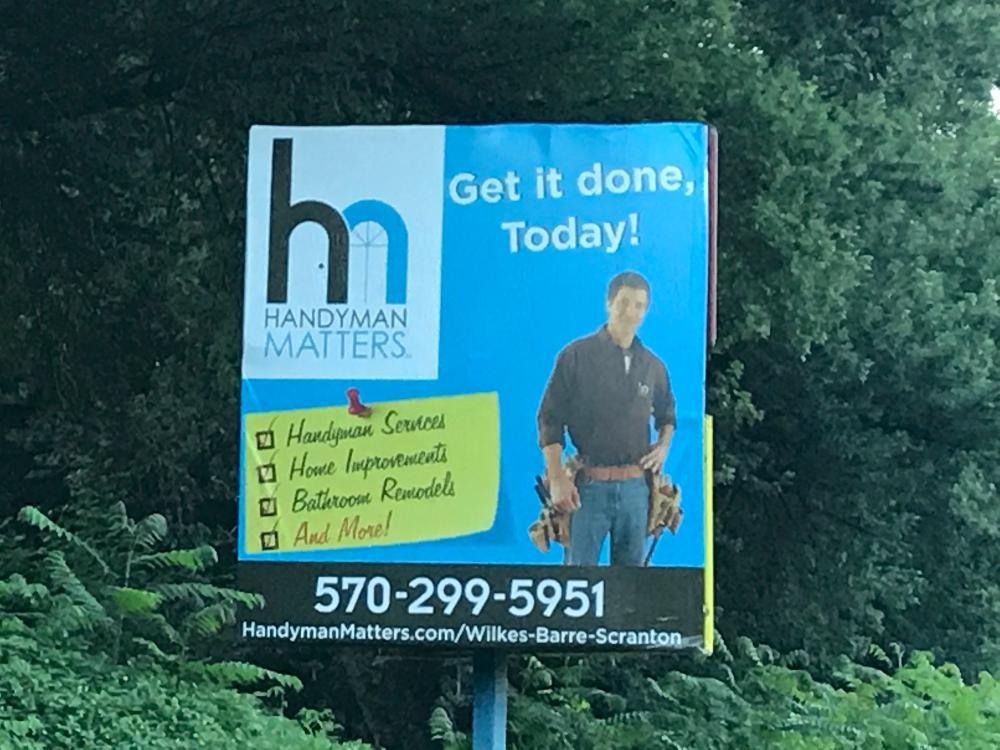 Handyman Matters of Wilkes-Barre and Scranton Billboard in Plains