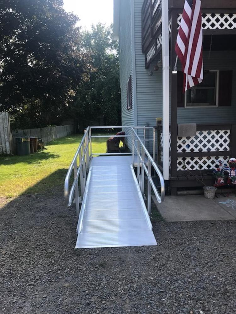 Aluminum Wheelchair Ramp Installed in Kingston