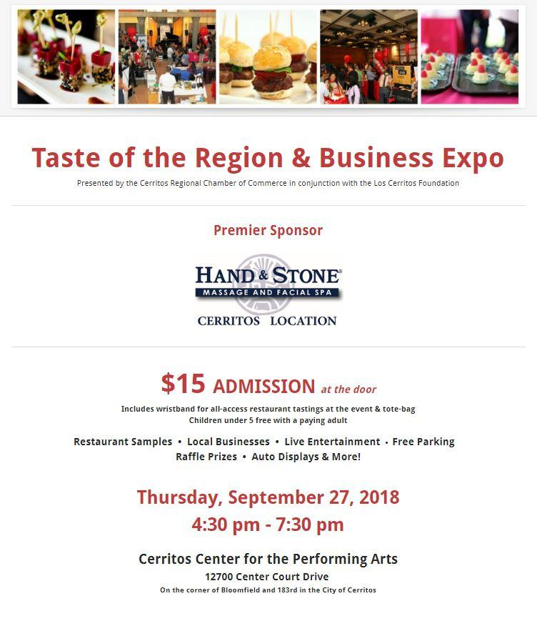 Taste of the Region 2018