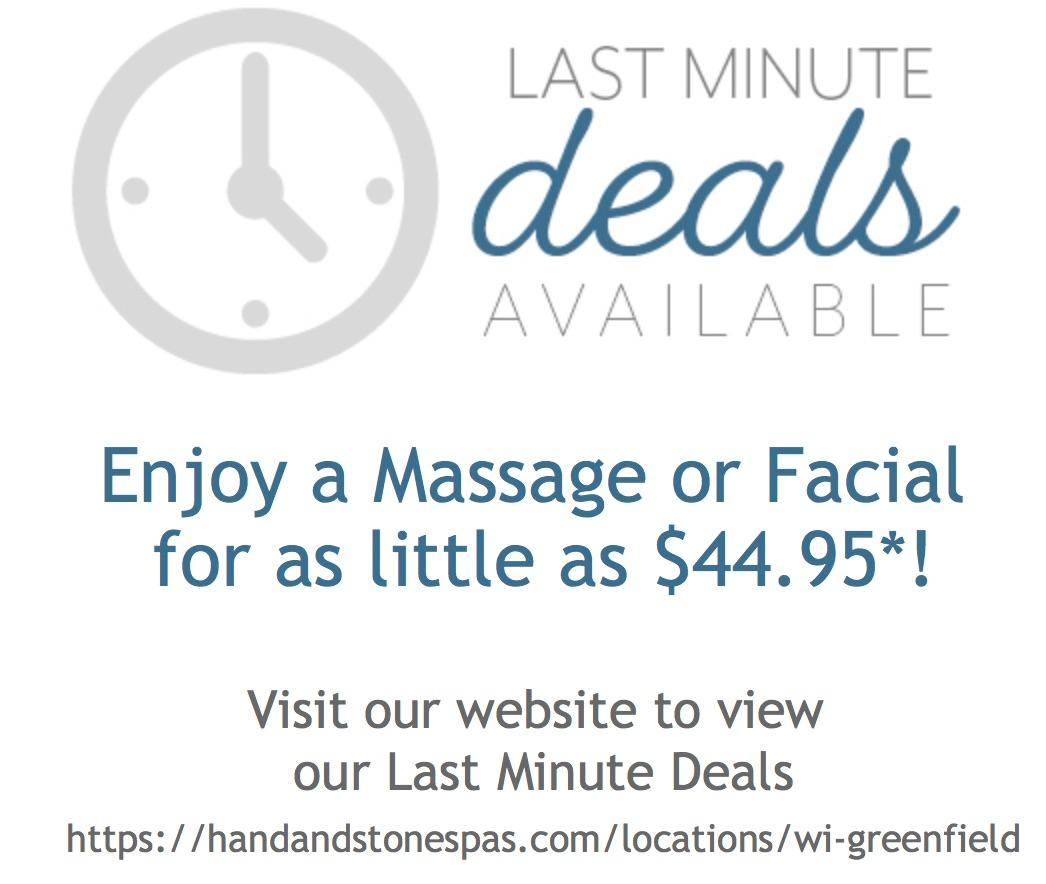 Enjoy a Massage or Facial at our lowest prices!