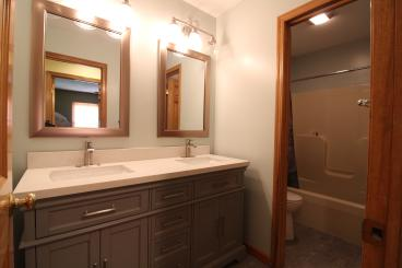 Vanity, Counter, Faucet, and Mirror Installation