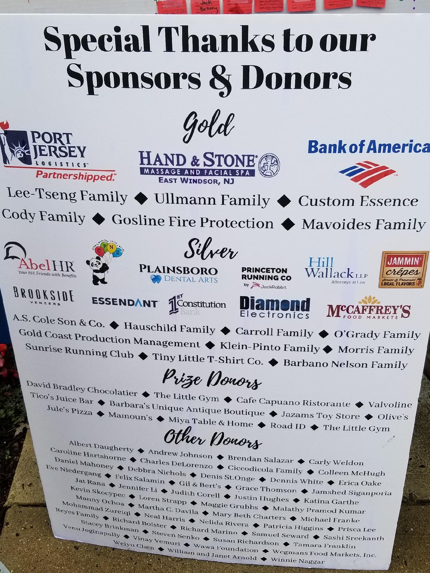 Proud Gold Sponsor for Helene Cody - Hand & Stone, East Windsor NJ 08520