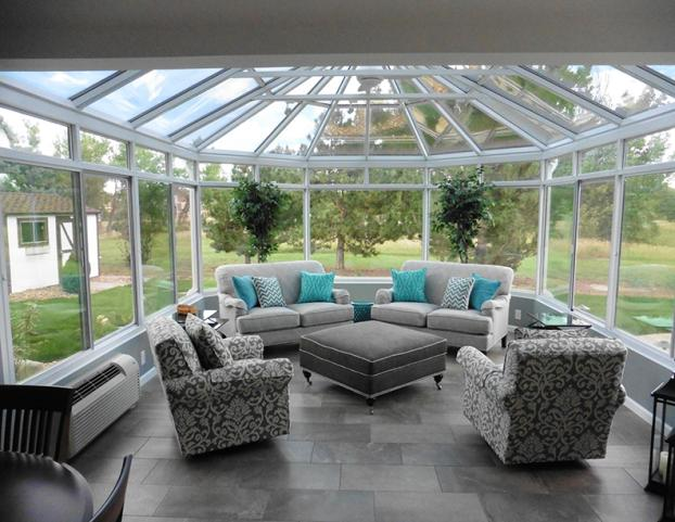 Cathedral Glass Roof Sunroom