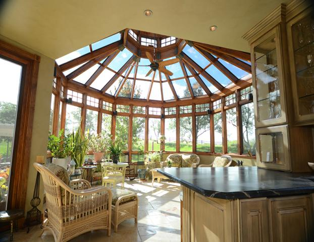 Cathedral Wood Frame Sunroom