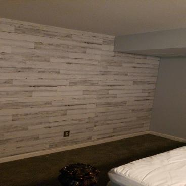 Shiplap on Accent wall ~ Ellicott City, MD