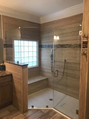 Shower Remodel with seat in St. Louis, MO