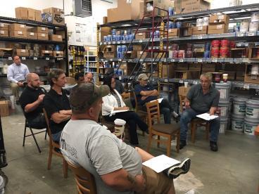 Company Meeting at Sherwin Williams