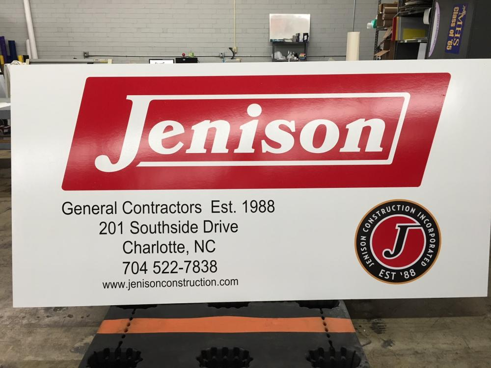 8' x 4' consturction sign
