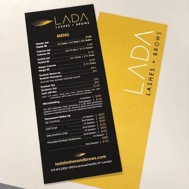 Brochures for LADA Lash Bar Printed and Designed in House