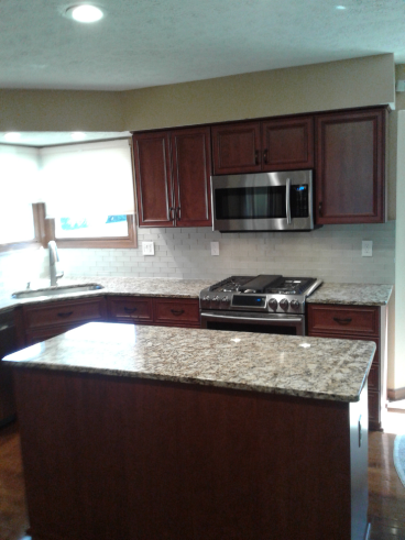 Installed Kitchen Backsplash in Westerville