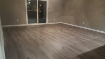 Installed Hard Wood Flooring and Baseboards in Westerville