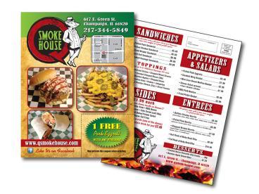An EDDM mailer/menu for a restaurant.