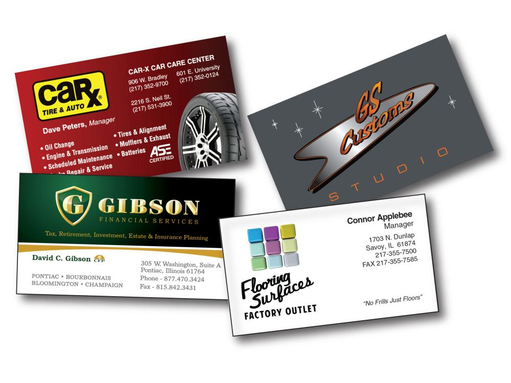 We can design a custom business card that's right for you.
