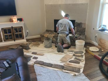 Fireplace Renovation in Montgomery, TX - March 2018