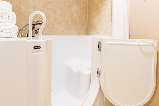 As the premier bathroom remodeling company in Omaha, we are CAPS certified by NAHB to provide ADA bathroom design and ADA bathroom remodels. We have 7 choices of walk-in bathtubs to choose from that are made to fit your accessibility and ADA needs. Each of these choices can come in a soaker tub or as a whirlpool tub or jetted tub.