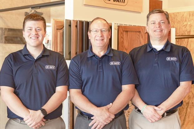 If you are looking for a bathroom remodel in Omaha, let Colin, Mike & Gene (pictured left to right) take care of your bathroom design. Traditional bathroom design, transitional bathroom design, or contemporary bathroom design modern bathroom design can all be accomplished to give you a beautiful bathroom renovation for your Omaha home.