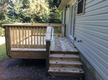 After Photo of Deck Construction Project in Larksville