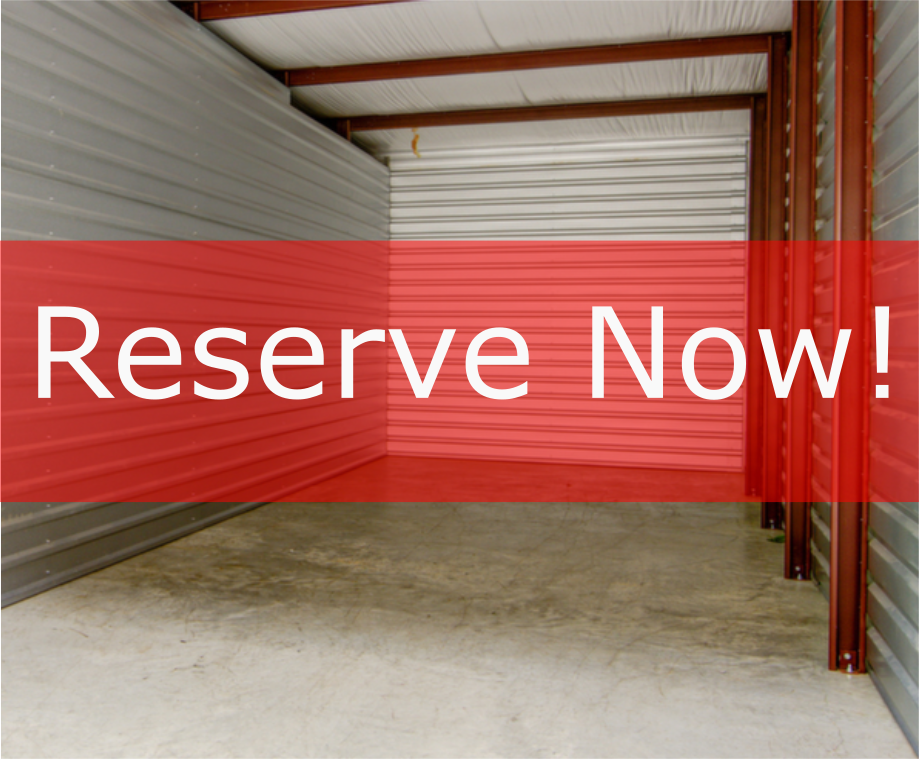 Reserve Your Storage TODAY!