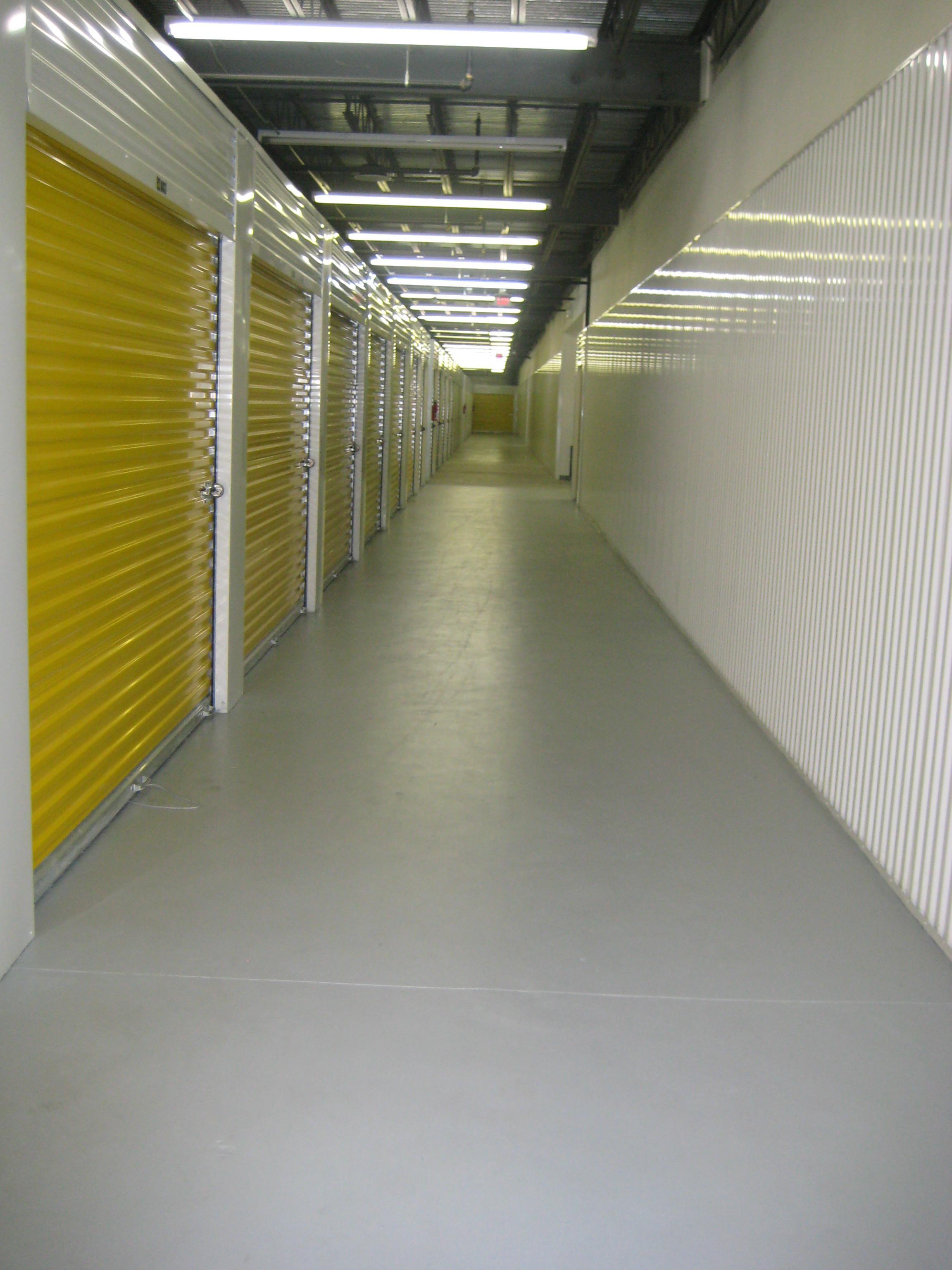 Wide aisles make moving easier.