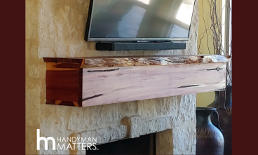 Rustic Mantle Carpentry