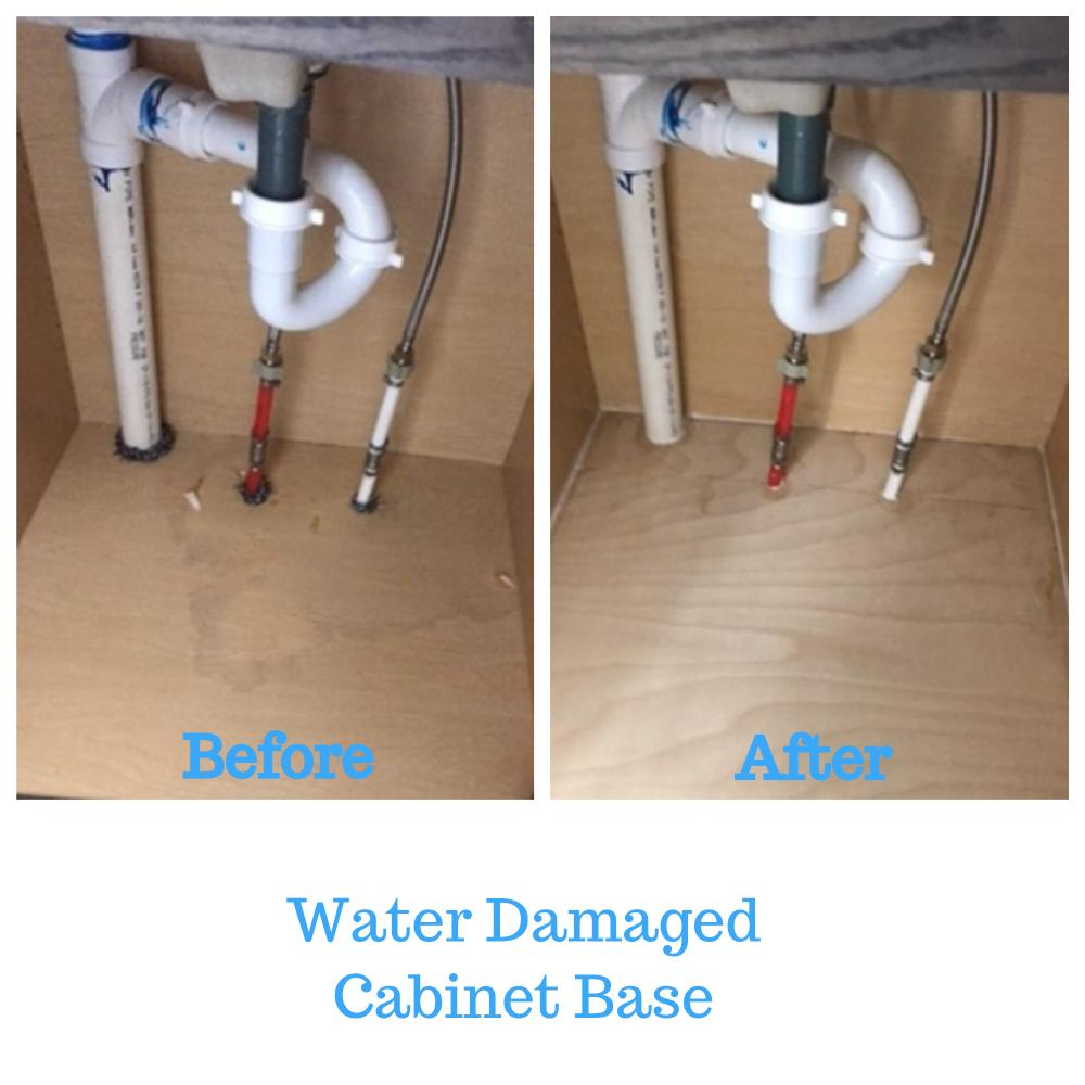 Water Damaged Cabinet Base