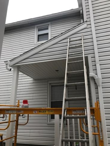 New Porch Shed Roof in Pittston