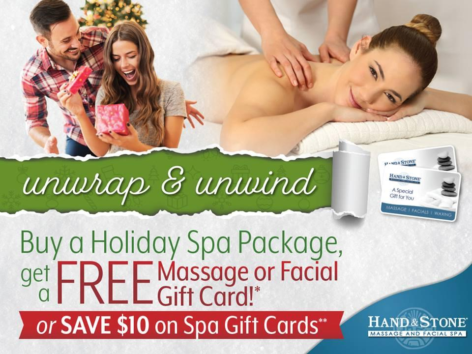 Hand & Stone Holiday Gift Card Special