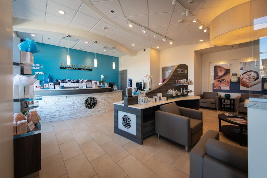 Front Desk-Lobby Hand and Stone Spa Carle Place