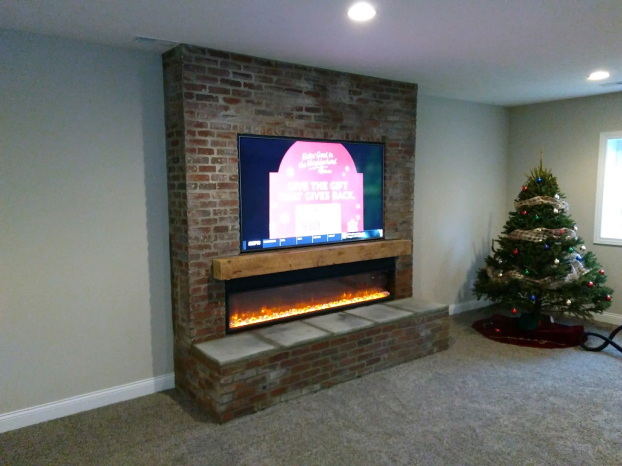 Custom Wall and Mantel in Sunbury