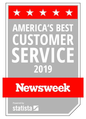 Listed as a Top Company for Customer Service by NEWSWEEK