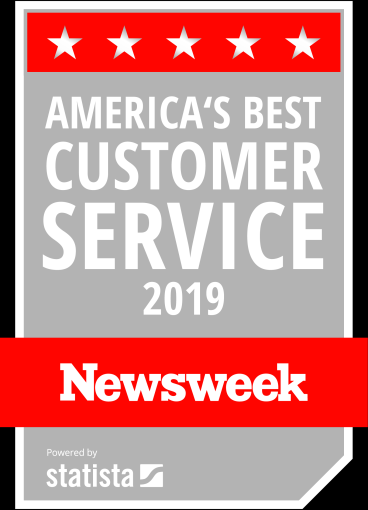 Listed as a Best Company for Customer Service by NEWSWEEK