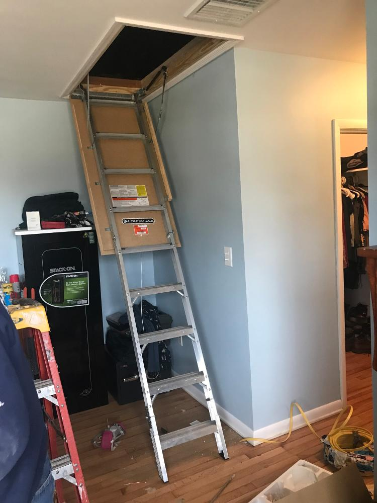Pull Down Attic Steps in Laflin