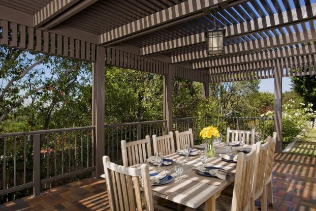 Thomas Elitewood Brown Ultra Lattice Double Rafter Patio Cover