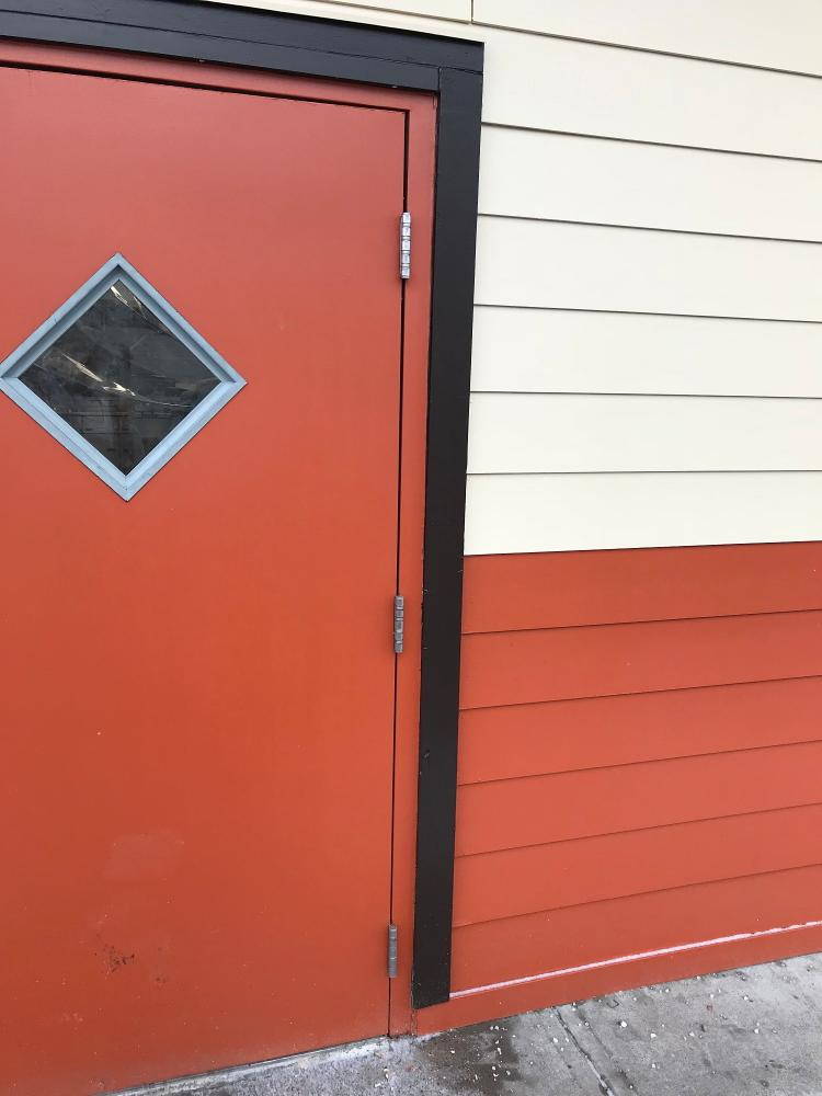 Exterior Door Commercial Property prior to replacement (Before photo)