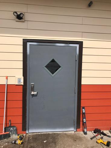 Exterior Door Commercial Property after replacement (After photo)