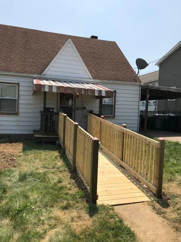 Ramp built for Mon Valley resident