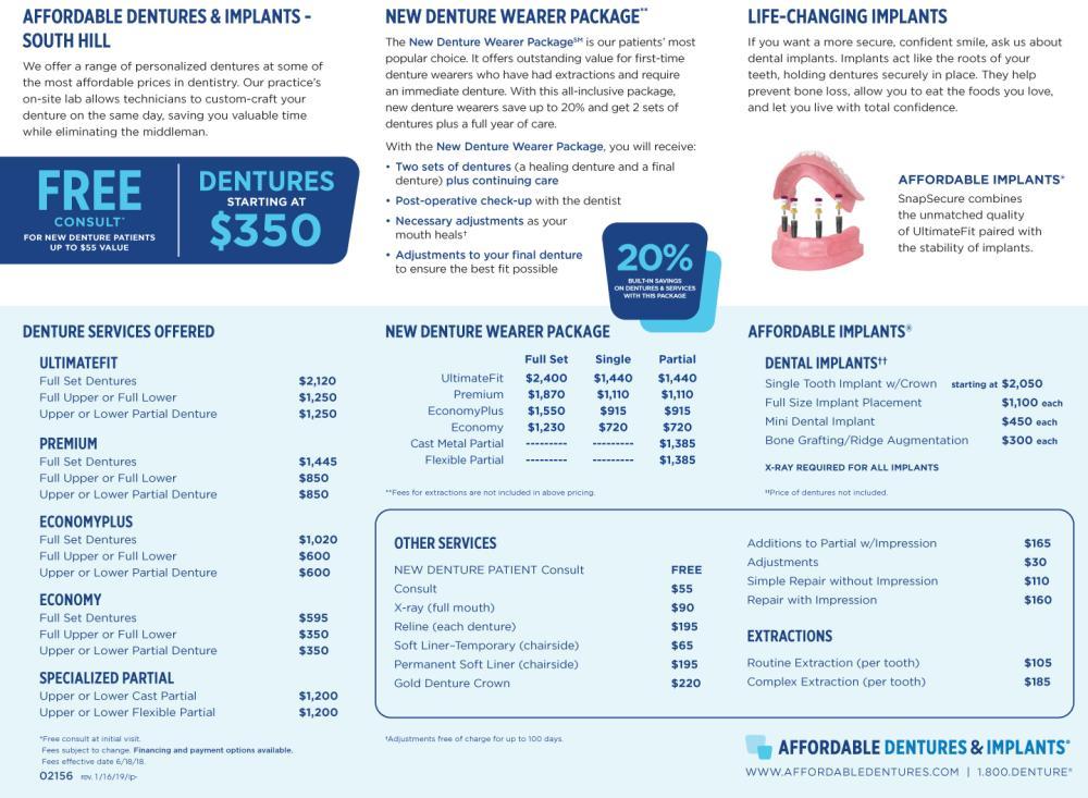 Denture Care Center South Hill, VA   Dentist 23970   Affordable