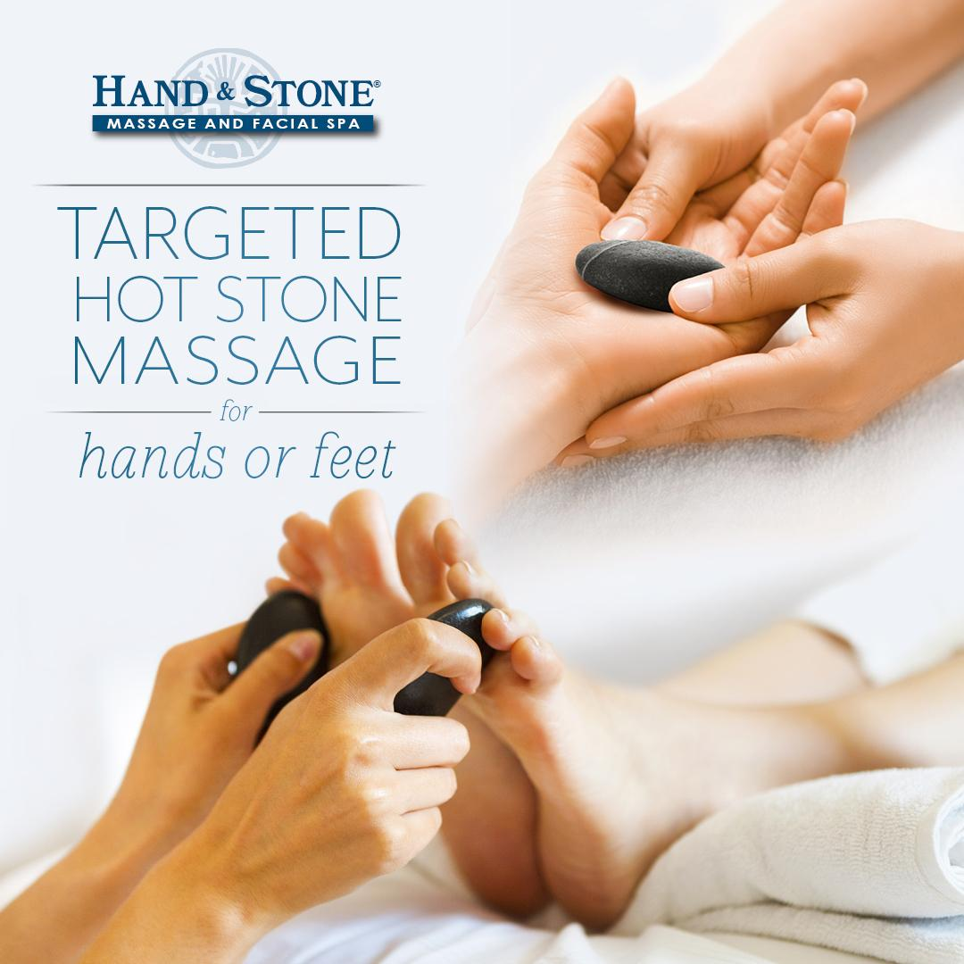 Targeted Hot Stone Massage for Hands or Feet