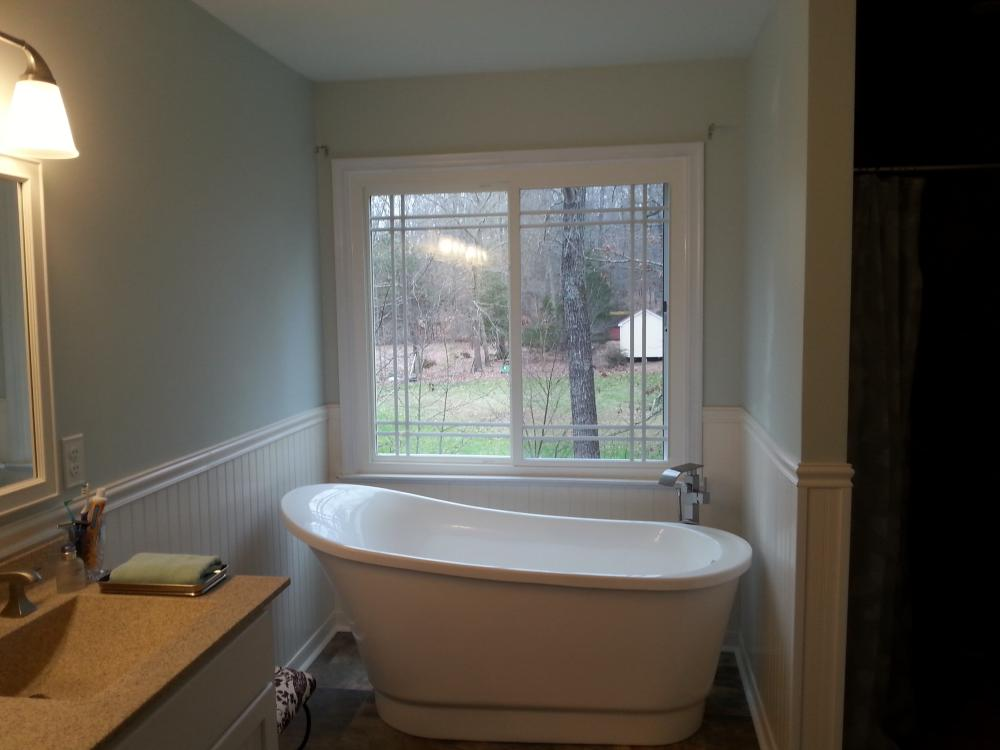 Stand alone tubs are a popular option for Re-Bath remodelers