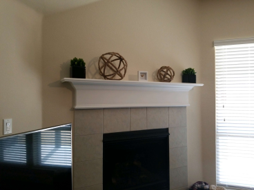TV Mount over Fireplace (Before) - Fort Worth, TX