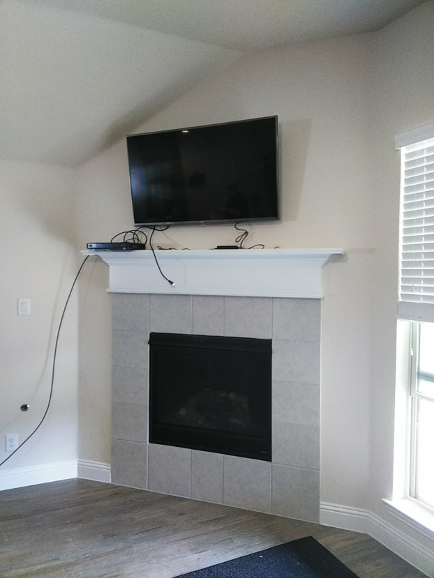 TV Mount over Fireplace (After) - Fort Worth, TX