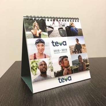 Teva Desktop Tent Calendar
