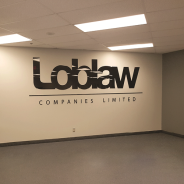 Loblaw Companies Ltd. Acrylic Wall Signage