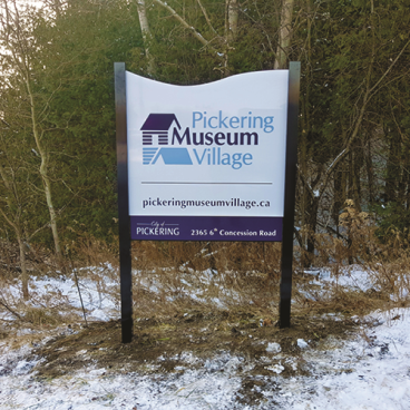 Pickering Museum Village Sign