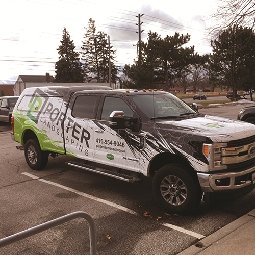 Porter Landscaping Vehicle Graphic