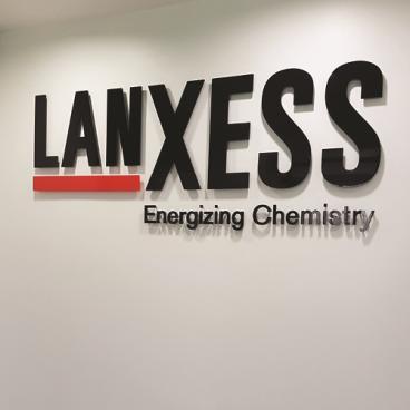 Lanxess Energizing Chemistry Acrylic Wall Signage