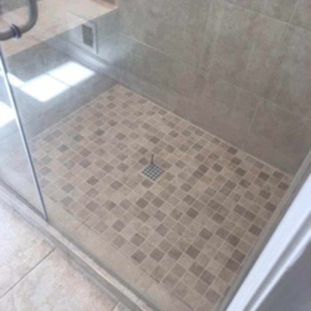 Grout Repair on Shower Floor ~ Laurel, MD